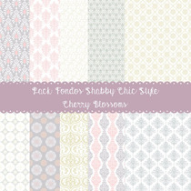 Pack De 10 Fondos Shabby Chic Style