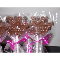 Paletas / Chupetines De Chocolate Corona / Princesas!