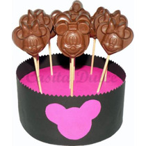 20 Chupetines De Chocolate Mickey Mouse Minnie Souvenir Chic