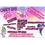 Kit Imprimible Candy Bar My Little Pony Muy Completo!! 2x1!!
