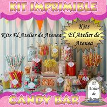Kit Imprimible Candy Bar Diamante Golosinas Personalizadas