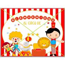 Deco + Candy Bar Circo Para Nene Con Nombre (para Imprimir)