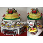 Cupcakes-torta-golosinas-topiario-candy Bar Cars- Rayo-dusty