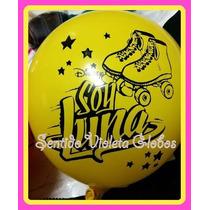 Globos Soy Luna 12 Amarillo Y Fucsia Cumpleaños