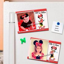 Minnie Mouse 10 Souvenirs Infantiles Foto-imanes . Divinos!!