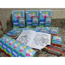 Libro Colorear + Crayones Personalizado Librito Rompecabeza
