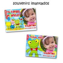 15 Souvenirs Iman + Cartel Bienvenida Foto Sapo Pepe Cumple