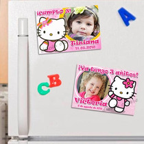 Hello Kitty 10 Souvenirs Infantiles Foto-imanes . Divinos!!
