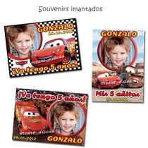 Cars Cumpleaños Cartel Bienvenida + 15 Souvenirs Imantados