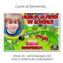 Cartel De Bienvenida Cumpleaños Angry Birds Con Tu Foto