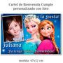 Cumpleaños Frozen - Cartel De Bienvenida Personalizado Foto