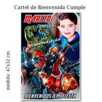 Avengers Los Vengadores Hombre Araña Cartel Cumpleaños Foto