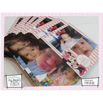 48 Souvenir Eventos Personalizado Iman 14x12cm Disney Minnie