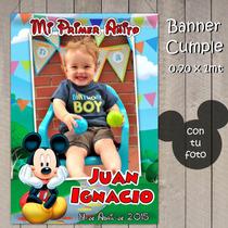 Banners Infantil Mickey Mouse/ Casa De Mickey Cumple Tu Foto