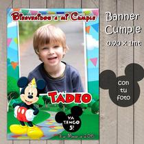 Banners Colgante Infantil Mickey Mouse Casa De Mickey Cumple