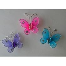 Mariposa De Tul 3 Cm Souvenir 3 X $ 15 Colores Nuevos