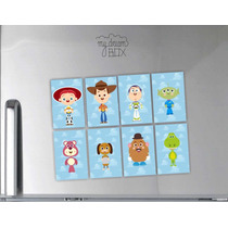 Souvenir Evento 8 Personajes Mezclados Iman Toy Story Woody