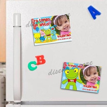 Sapo Pepe - 10 Souvenirs Imantados Cumpleaños
