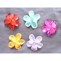 Flor De Tul Con Lentejuelas Grande (mariposas)
