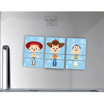 Souvenir Evento 3 Personajes Mezclados Iman Toy Story Woody