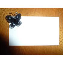 Mariposa De Tul 3 Cm Ideal Souvenir Negra
