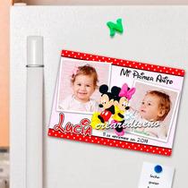 Minnie Mickey Foto Souvenirs Imantados Cumpleaños X 10 Un.