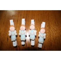 20 Broches Angelitos Porcelana Fría Con Imán