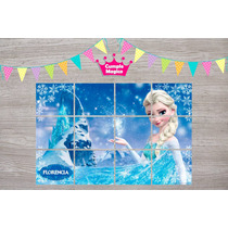 Frozen Rompecabezas Iman 15x10cm X10u Suvenir Personalizados