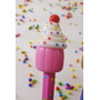 10 Souvenirs Lapices Con Cupcakes De Porcelana Fría Cumple
