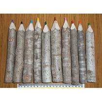 10 Crayones Jovi De Tronco, Madera