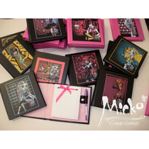 Monster High Anotadores Souvenirs Tapa Dura! C/ Lap. Unicos!