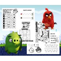 Angry Bird Libritos Souvenir: Pintar Y Actividad Imprimible