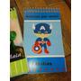 Souvenirs Libreta Personalizada, Frozen Superheroes Violeta