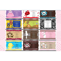 Mega Kit Baby Shower Invitaciones, Moldes, Stickersy Mucho++