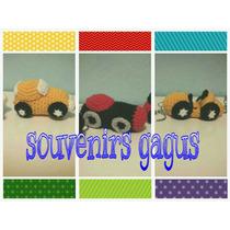 Souvenirs Coches Autos De Carrera Tejidos A Crochet