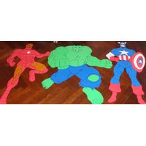 Hulk Capitan America Iron Man En Goma Eva