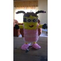 Piñata De Minion Vestido De Nena.