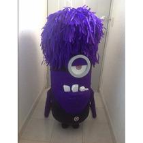 Piñatas Frijolito Minion Morado Mi Villano Favorito