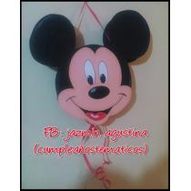 Piñata Cara De Mickey Minnie Rosa,roja