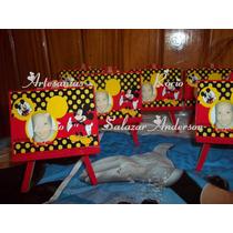 Atril,cuadrito Con Foto Mickey,minnie,pepe,whinnie,1º Añito