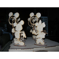 Portaretratos Mickey Minie Mouse En Fibrofacil