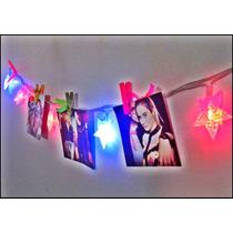 Colga Tus Fotos Con Estrellas De Luces! Super Original!