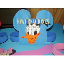 Servilleteros Figura Mickey En Goma Eva Y Corrugado