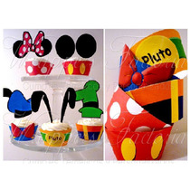 Mickey Y Minnie - Wrappers Y Toppers - Kit Imprimible