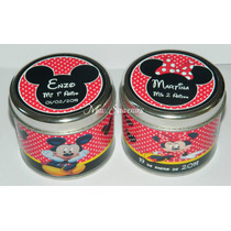 Latas Personalizadas De Mickey Y Minnie- Pack X 10unid