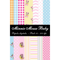 Pack Papeles Digitales Minnie Mouse Baby