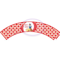 20 Wrappers Personalizados Para Souvenirs De Cupcake