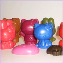 Crayones - Souvenirs - Kitty - Cumpleaños - Pack X 24 Un.