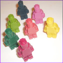 Crayones - Souvenirs - Lego - Cumpleaños - Pack X 48 Un.