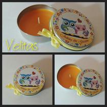 Souvenirs 10 Latas Con Vela